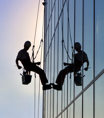 Abseil window cleaning